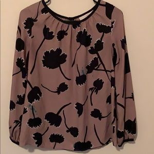 Brown Blouse With Flowers.